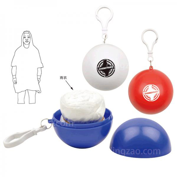 Pocket Ball Rain Poncho