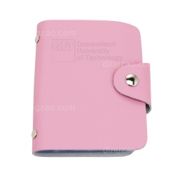 Leather Business Card with Buckle (7.4 cm)