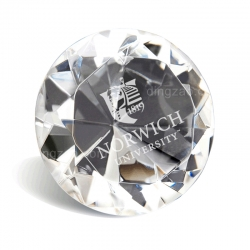 Diamond-shape Crystal Paperweight (9.9 cm)