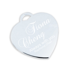 Heart-shape Steel Tag (2.7cm)