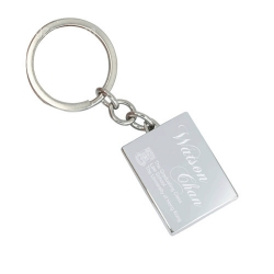 Square Photo Frame Keychain