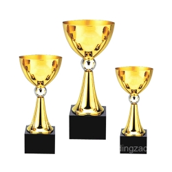 Gold Metal Trophy Cup without Handles (18.5cm)