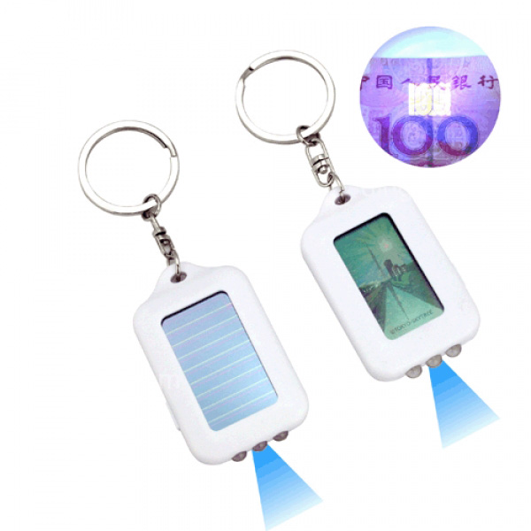 Solar LCD Flashlight with Money Detector