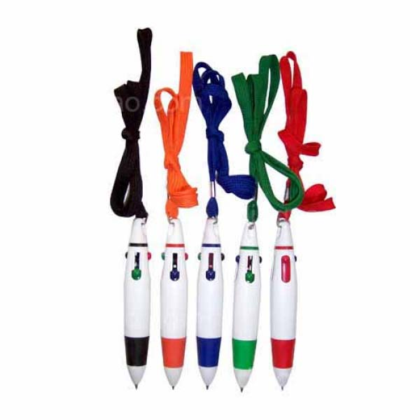 4-color Ballpoint with Lanyard
