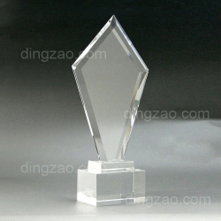 Custom Shape Crystal Trophy