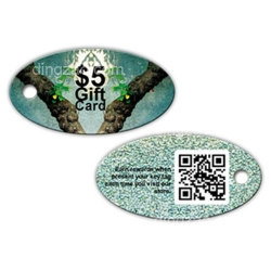 Oval shape Key Card