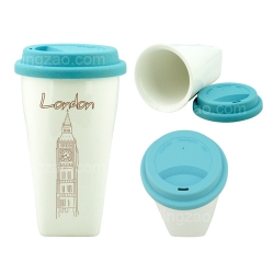 Square Bottom Tumbler with Rubber Lid