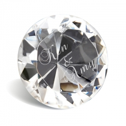 Diamond-shape Crystal Paperweight (5 cm)