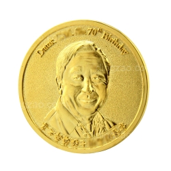 Gold-plated Commemorative Coin (5cm)