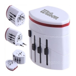 Universal Travel Adapter with Double USB