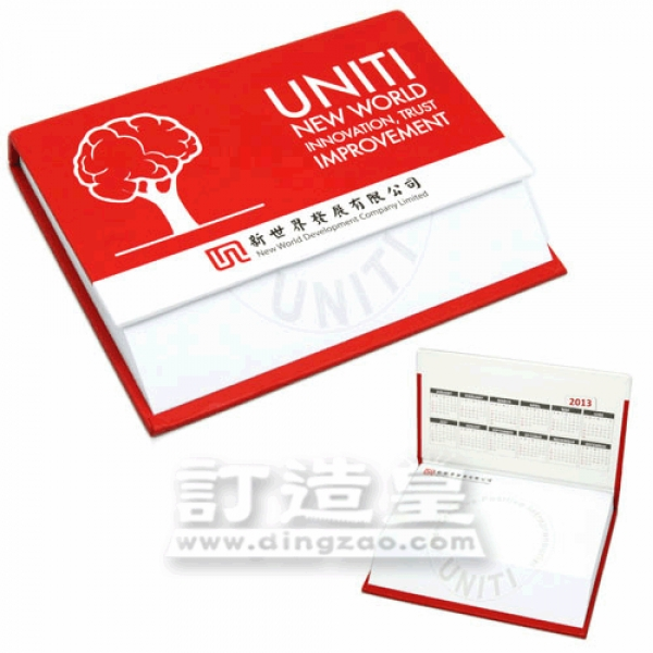 Slant-cut Memo Pad with Hard Cover (10.2 x 9.0/100 sheets)