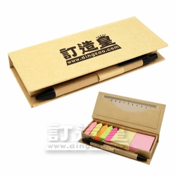 Eco Friendly Memo Holder with Pen & Ruler